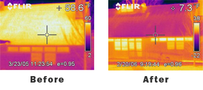 Before and After Thermal House Services